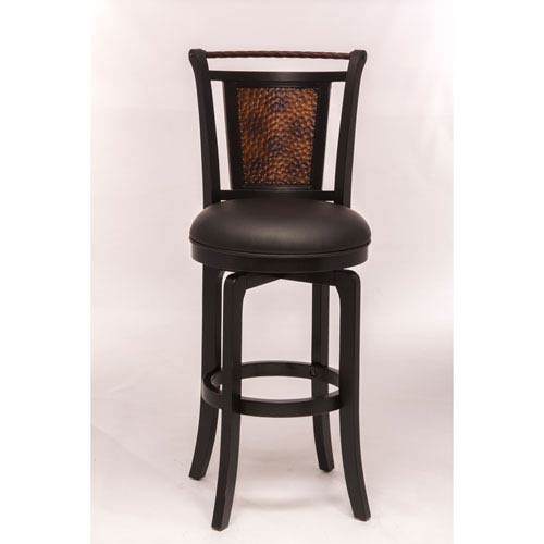 Norwood Black Swivel Bar Stool