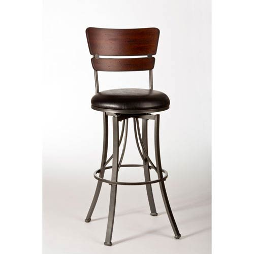 Santa Monica Pewter Swivel Counter Stool