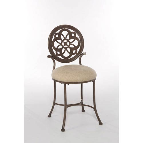 Hillsdale Furniture Marsala Gray with Rust Highlights Vanity Stool
