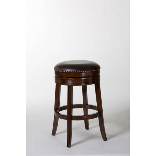 Tillman Brown Cherry Backless Swivel Counter Stool