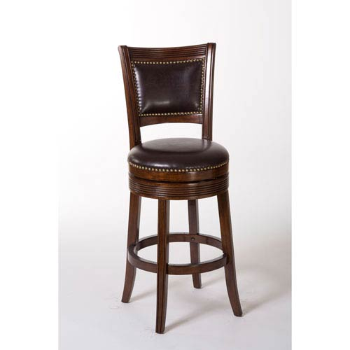 Hillsdale Furniture Lockefield Brown Cherry Swivel Counter Stool