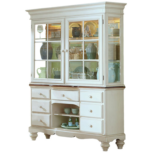 Pine Island White Buffet and Hutch