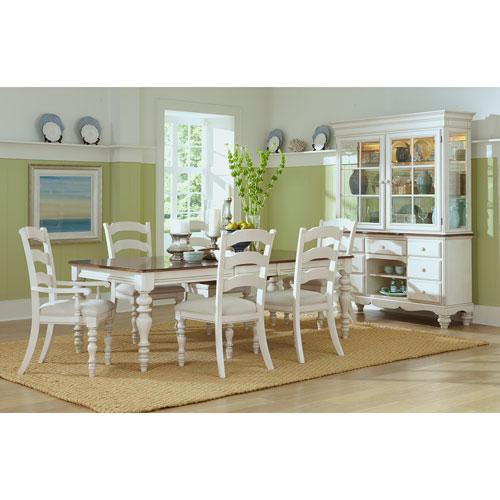 Hillsdale Furniture Pine Island Old White Seven Piece Dining Set