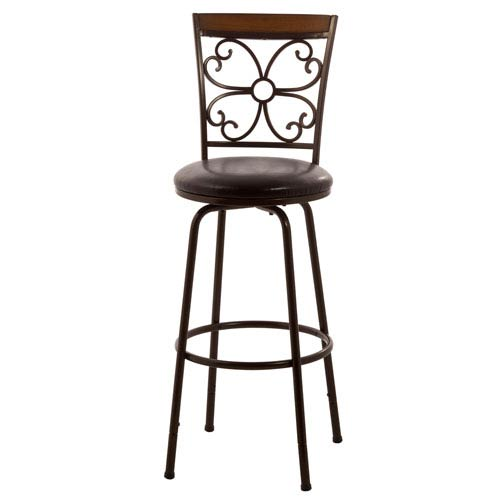 Garrison Dark Brown Counter and Bar Stool with Nested Leg