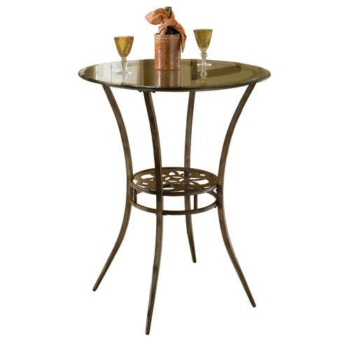 Marsala Grey and Rust Bar Height Bistro Table