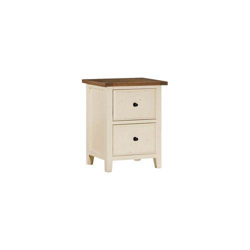 Hillsdale Furniture Tuscan Retreat Country White With Oxford Antique Pine File  Cabinet