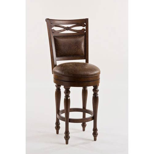 Seaton Springs Weathered Walnut Counter Stool