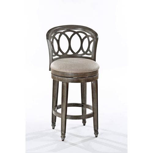 Adelyn Antique Silver and Gold Swivel Bar Stool