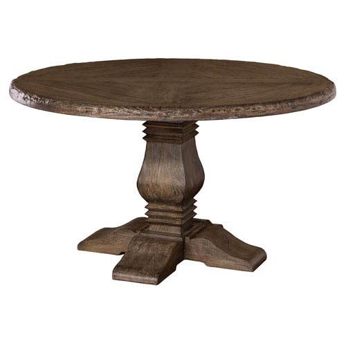 Lorient Charcoal Gray Round Dining Table