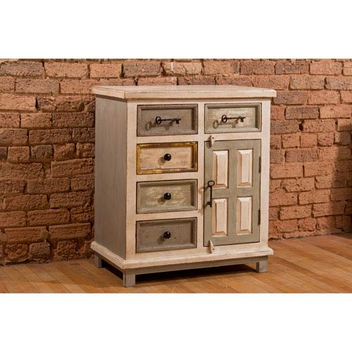 Hilale Furniture Larose Five Drawer Accent Cabinet With Solid Wood Door