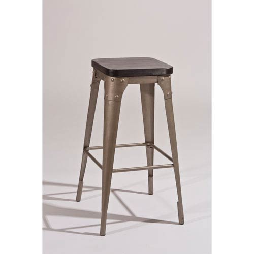 Hilale Furniture Morris Dark Gray Backless Counter Stool