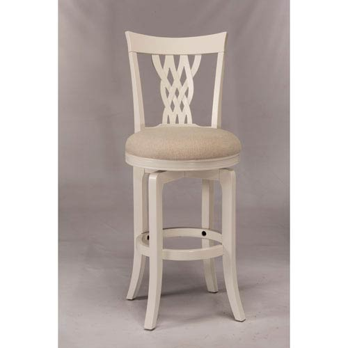 Embassy White Swivel Bar Stool