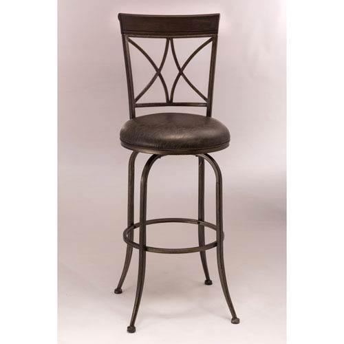 Hillsdale Furniture Killona Pewter Swivel Counter Stool