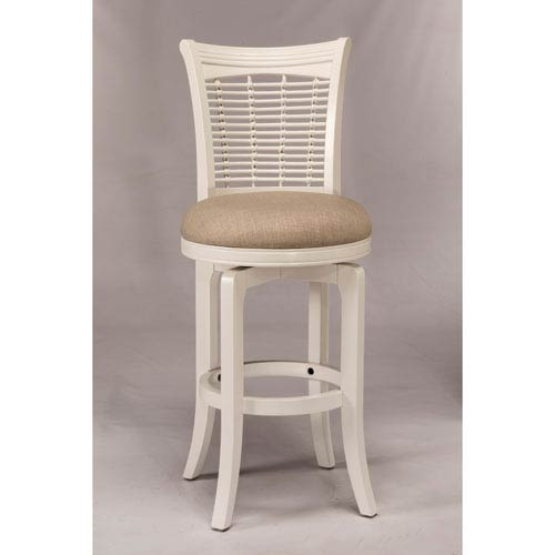 Hillsdale Furniture Bayberry White Swivel Counter Stool