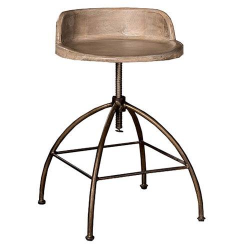 Bridgewater Adjustable Stool - Tan Wood Seat