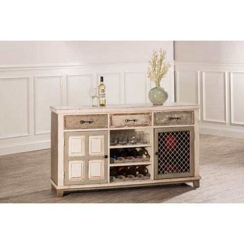 Hillsdale Furniture LaRose Door Console Table with Removable Wine Rack