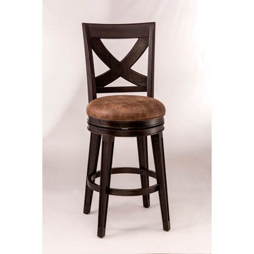Hilale Furniture Santa Fe Espresso Swivel Bar Stool