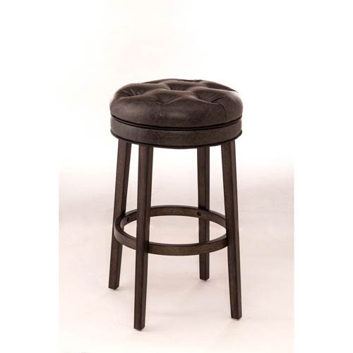 Hillsdale Furniture Krauss Charcoal Gray Backless Swivel Counter Stool