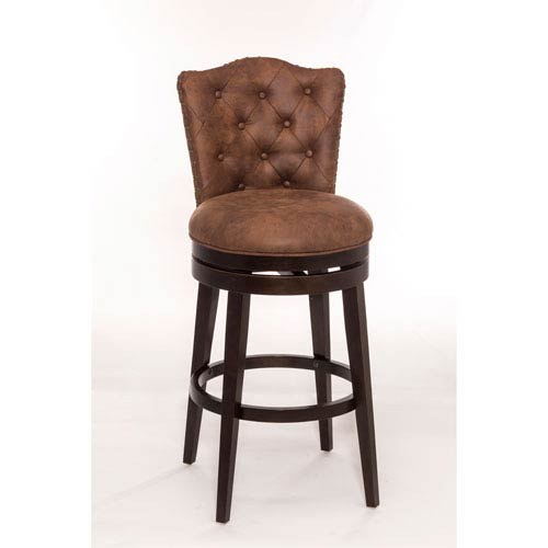 Hilale Furniture Edenwood Chocolate Swivel Bar Stool