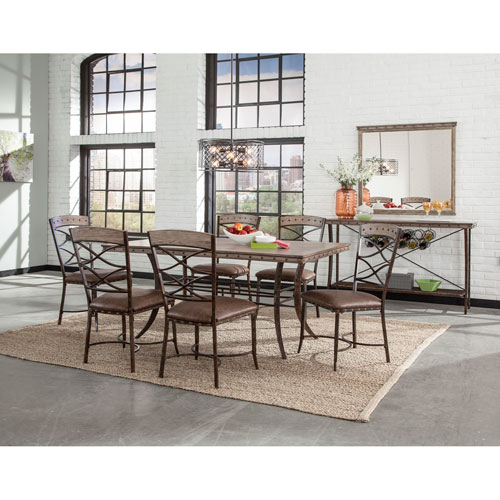 Emmons Washed Gray 7-Piece Rectangle Dining Set