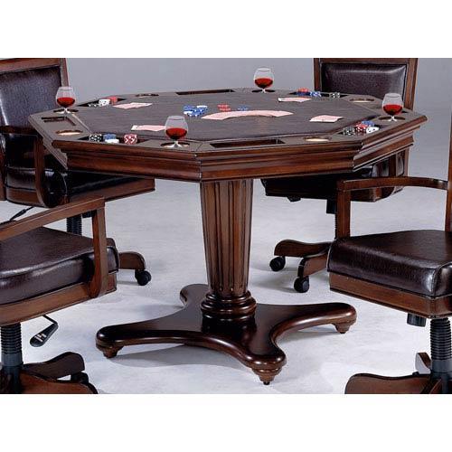 Ambassador Rich Cherry Octagon Game Table
