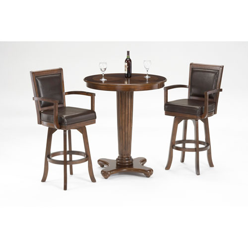 Ambassador Rich Cherry 42-Inch High Pub Table and Two Bar Stools