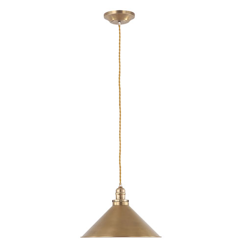 Provence Aged Brass 15-Inch One-Light Pendant