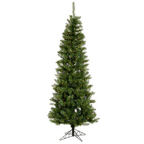 Vickerman Salem Pencil Pine 9 5 Foot Christmas Tree W 450 Warm White Wide Angle Led Lights And 1171 Tips