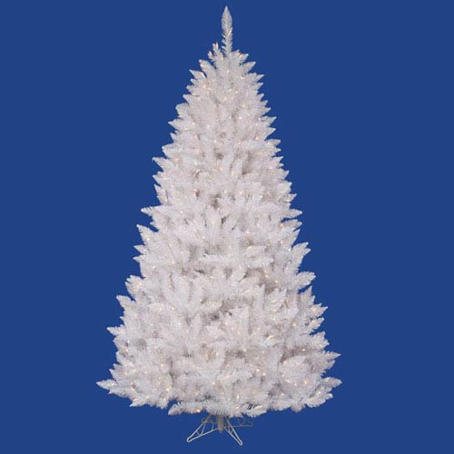 Crystal White Spruce 3.5 Ft. Artificial Tree with 110 Multi Colored LED Lights
