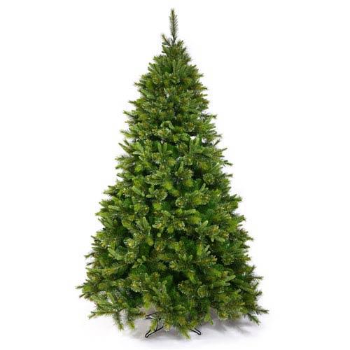 Green 7.5 Foot Cashmere Slim Tree Christmas Tree