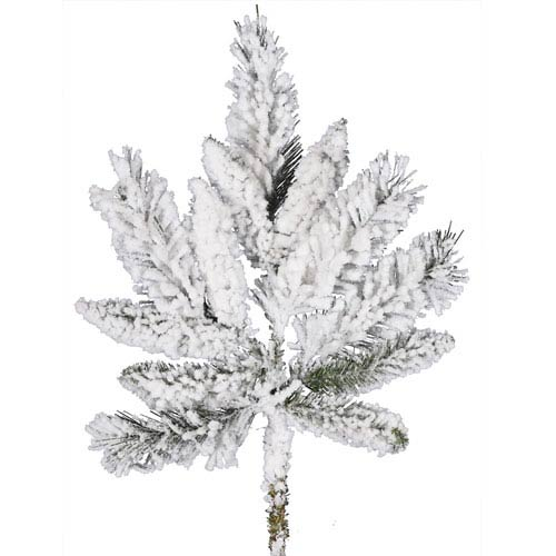 Vickerman Flocked White on Green Snow Ridge Spray 18-inch