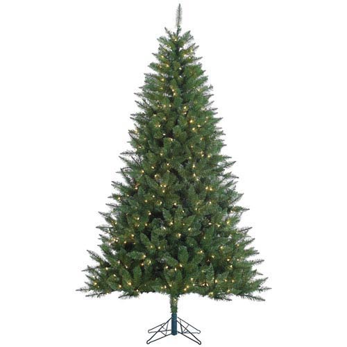 Lincoln Fir Green 7.5 Foot Christmas Tree with 500 Clear Lights