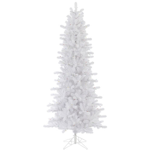 Vickerman Crystal White 8 5 Foot Slim Pine Tree