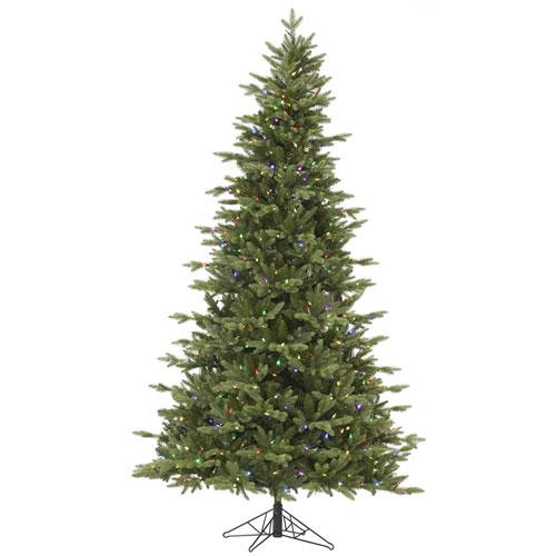 bb276b79da3 Vickerman Green 9 Foot LED Fresh Balsam Fir Tree with 1050 Multicolor Lights
