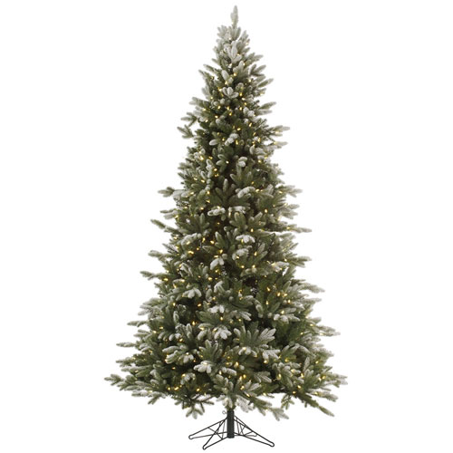 Green 9 Foot Frosted Balsam Tree with 1050 Clear Lights