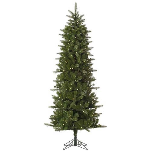 vickerman carolina green pencil spruce 9 foot x 44 inch christmas tree with 500 warm