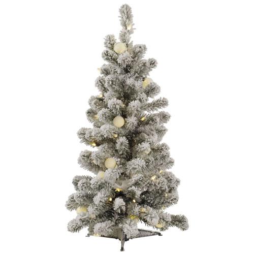 3 Ft. Flocked Kodiak LED Tree
