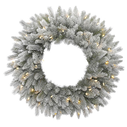 24 In. Frosted Sable Wreath