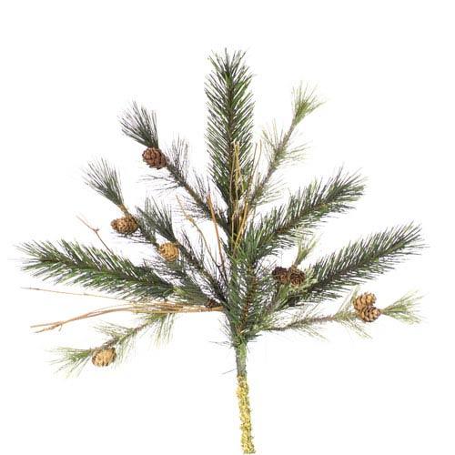 Vickerman Green Mixed Country Pine Spray 18-inch