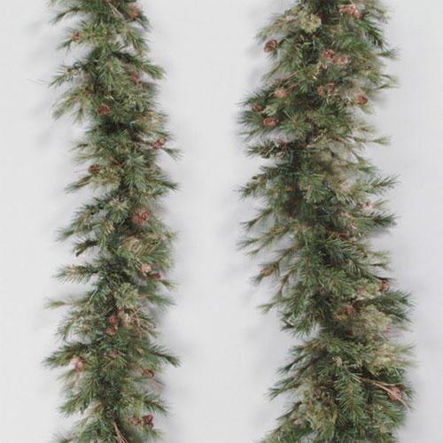 Green Mixed Country Pine Swag Garland 6-foot