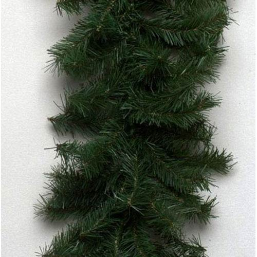 Green Canadian Pine Garland 12-inch