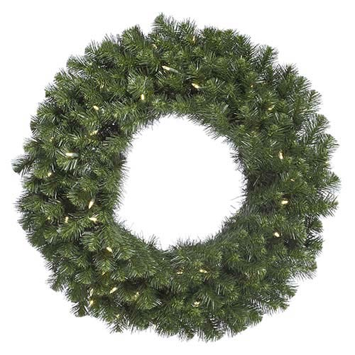 Green Douglas Fir 72-Inch Wreath with 200 Warm White LED Lights