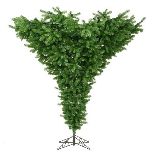 Green 7.5 Foot Upside Down Tree