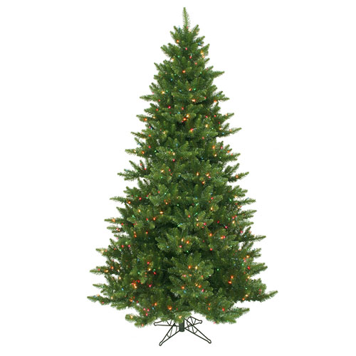 Green 7.5 Foot Camdon Fir Christmas Tree with 800 Multicolor Lights