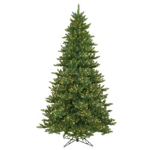 Camdon Fir 12-Foot Christmas Tree w/2100 Clear Dura-Lit Lights and 5128 Tips