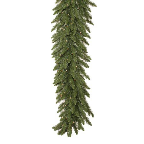 50-Ft. x 12-In. Pre-Lit Camdon Fir Garland with 400 Clear Lights
