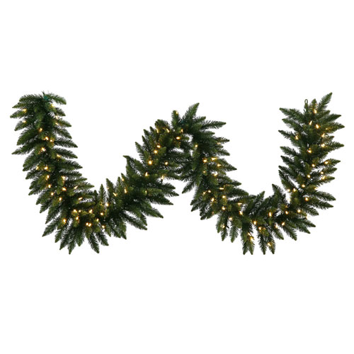 Green 25 Foot Camdon Fir LED Garland with 450 Warm White Lights