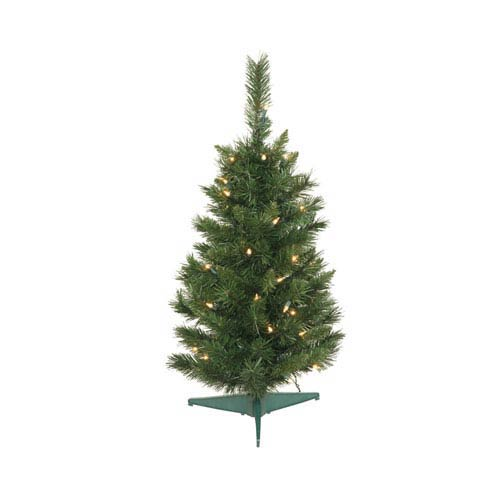 Imperial Pine 30-Inch Christmas Tree w/50 Clear Dura-Lit Lights and 96 Tips