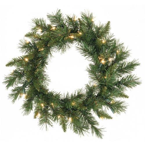 Vickerman Green Imperial Pine Wreath 24-inch