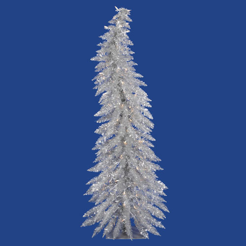 Vickerman 5 Ft. Silver Whimsical Tree